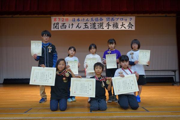 10級~5級の部 表彰者