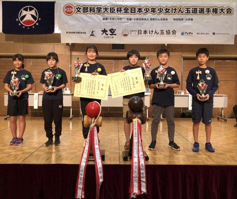 表彰選手 準優勝に北関西代表 橋本苗咲さん