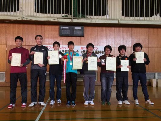 大阪市オープン 表彰