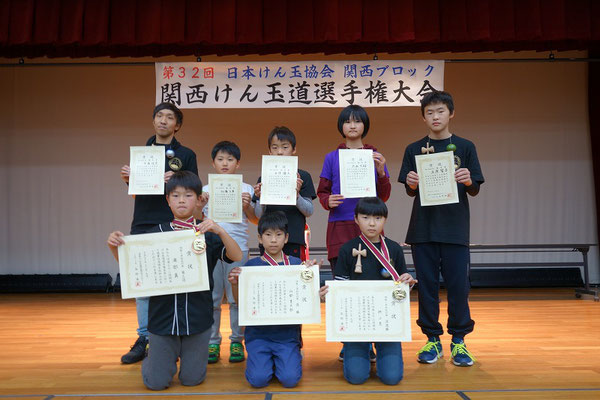 4級~準初段の部 表彰者
