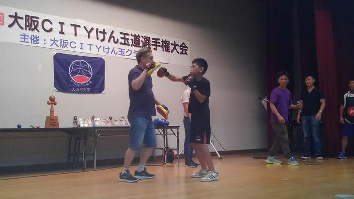 ボクシング ミット打ち体験