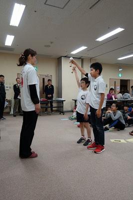 選手宣誓 奥田選手と岩田選手