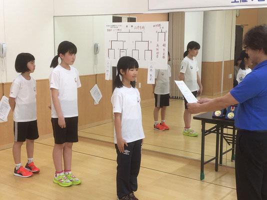 小学5・6年生の部 優勝 山本 朱莉