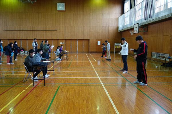 大阪市オープン 手前は2位・3位決定戦、奥は決勝戦