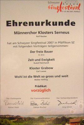 """""""Vorzüglich"""" ist ihm gerade genug - als einziger Chor der Deutschschweiz"""