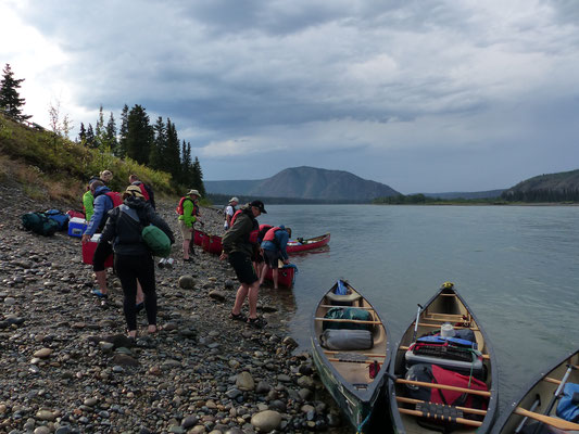 Anlegestelle bei Fort Selkirk am Yukon