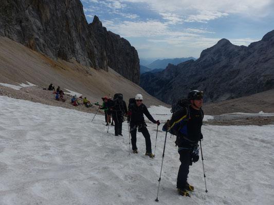 über den Gletschter zur Zugspitze