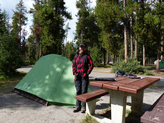 mein Zelt in den Rocky Mountains