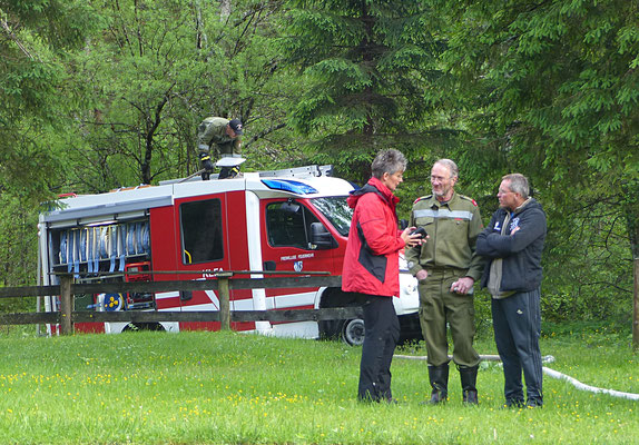 Feuerwehreinsatz im Waldschwimmbad in Hinterwildalpen