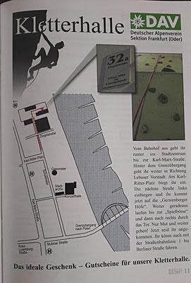 Kletterhalle in Frankfurt (Oder)