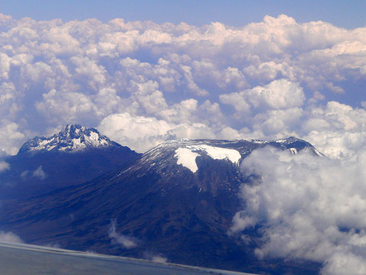 Kilimanscharo vom Flugzeug aus