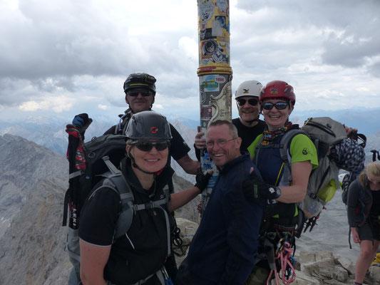 Gipfelerfolg auf der Zugspitze