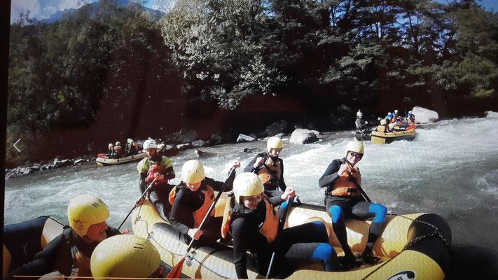 Rafting bei Meran