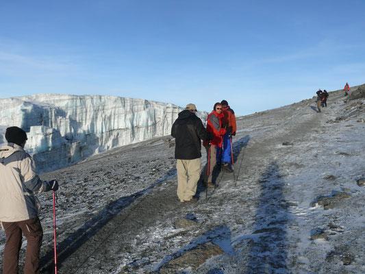 die letzen 200 hm zum Gipfel