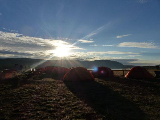 Morgenstimmung im Fort Selkirk, Yukon