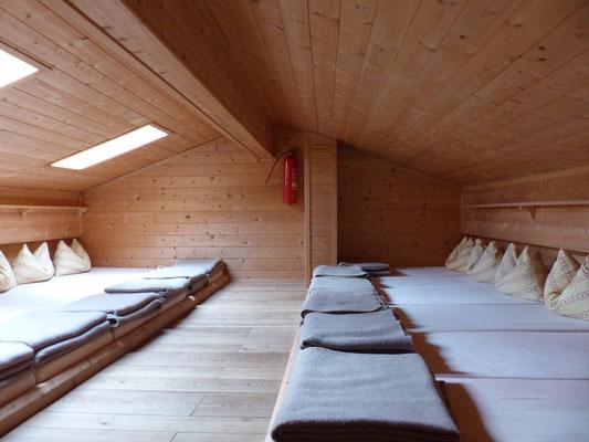 Lager in der Oberetteshütte