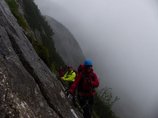 auf dem Brett zur Zugspitze