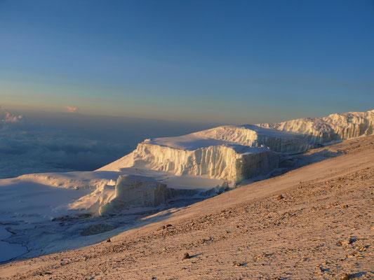 Gletscher am Kilimanscharo