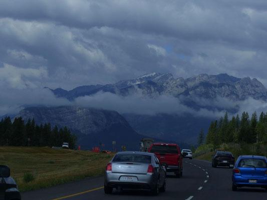 auf dem Trans Canadia Highway 1 ...