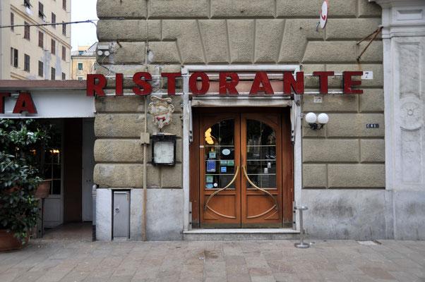 イタリア最大の港湾都市ジェノバ⑥ 昼食を取ったレストラン