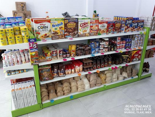 Góndolas metálicas para tiendas, góndolas para supermercados