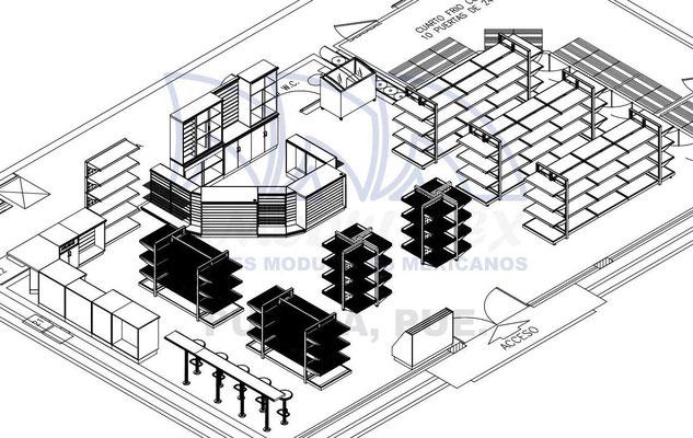 Planos de tienda tipo Oxxo