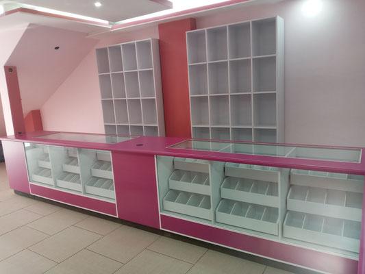 Mueble para farmacia, vitrinas para farmacias, mostrador para papelería, mostrador para farmacia