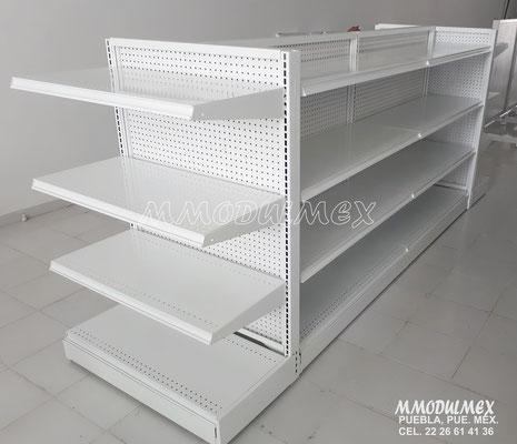 Góndolas metálicas, estantes para tiendas, estantería metálica, góndolas para tiendas tipo oxxo