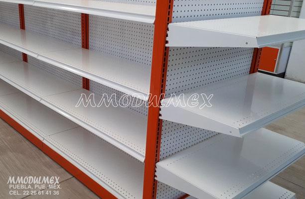 Góndolas metálicas, estantes para tiendas, estantería metálica, góndolas para oxxo