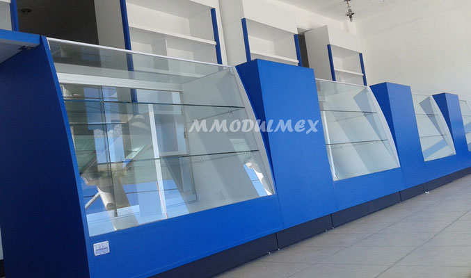 aparadores y vitrinas para farmacias y papelerías