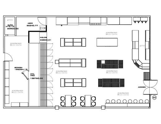 Plano de muebles para tiendas tipo oxxo