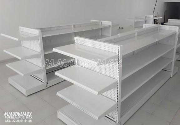 estantes y anaqueles para farmacias