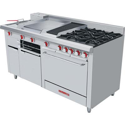 Estufas para cocinas, comedores y restaurantes. Coriat.