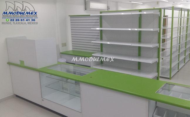 vitrina para farmacia, muebles para farmacia, aparadores para farmacia