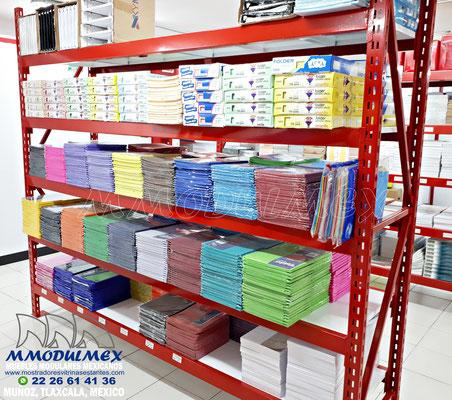 racks para papelería, Muebles para papelería, mostradores para papelería, estantes y anaqueles para papelería, vitrinas para papelería