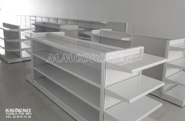 Góndolas metálicas, estantes para tiendas, estantería metálica, anaqueles metálicos, muebles para tiendas