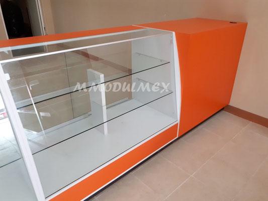 mostradores y vitrinas para farmacias y papelerías
