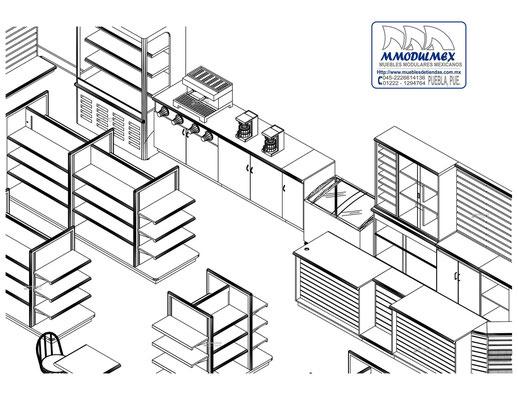 Planos de muebles para tienda