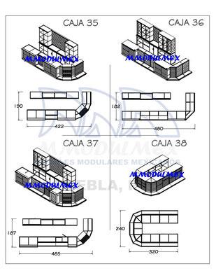 Muebles de Caja mostrador vitrina para tiendas, farmacias, papelerías y negocios