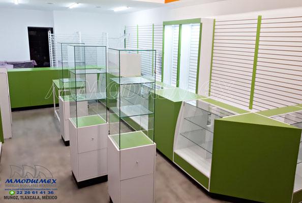 vitrina para farmacia, mostrador para farmacia, muebles para farmacia, aparadores para farmacia, estantes para farmacia