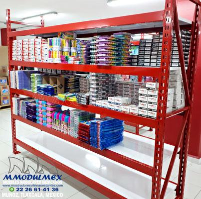 racks para papelería, mostradores para papelería, estantes y anaqueles para papelería, vitrinas para papelería