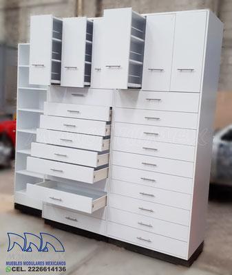 Muebles cajonera para farmacia