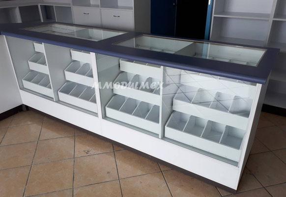 estantes y muebles para farmacias y papelerías