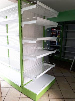 Anaqueles metálicos, estantes metálicos, repisas metálicas, entrepaños metálicos