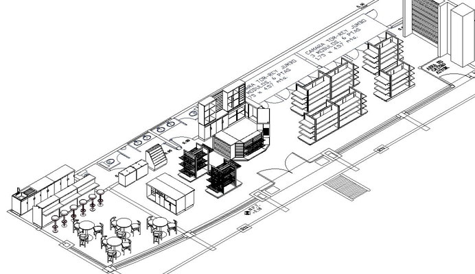planos Diseño de tiendas, papelerías y farmacias lay out