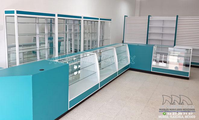 Vitrinas y mostradores para farmacia