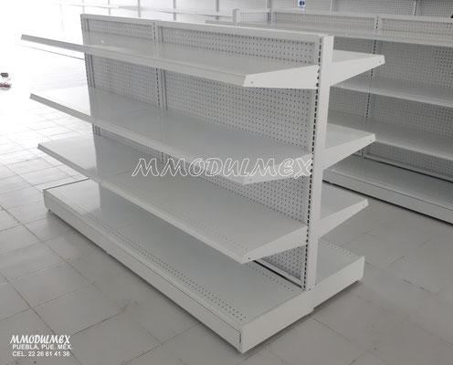 Góndolas metálicas, anaqueles metálicos, góndolas para supermercados, repisas metálicas, entrepaños metálicos
