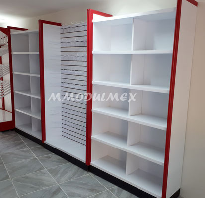 Precios de muebles de madera y met licos para tiendas papeler as farmacias y negocios en - Estanterias metalicas de diseno ...