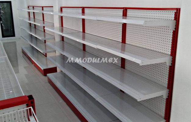 Entrepaños metálicos, góndolas de pared