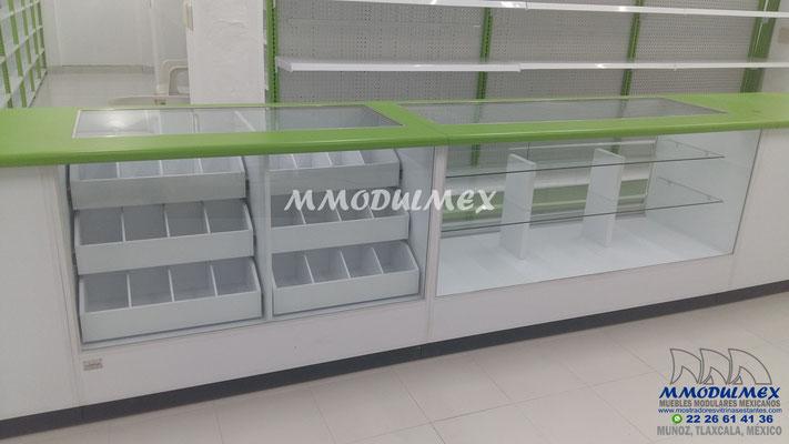 vitrina para farmacia, mostrador para farmacia, muebles para farmacia